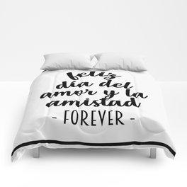 Feliz Día del Amor Comforters