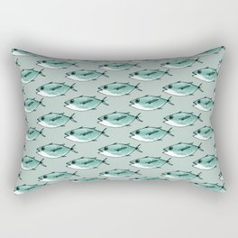 Shoal of bluefin tuna Rectangular Pillow