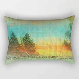Serenity Prayer Colorful Trees Rectangular Pillow