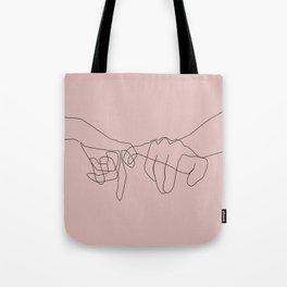 Blush Pinky Tote Bag