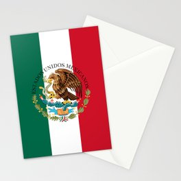 Flag of Mexico & Coat of Arms augmented scale Stationery Cards