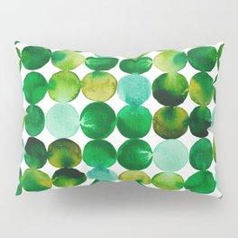 Green Watercolor Circles Pattern Pillow Sham