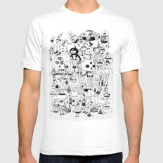 US AND THEM  White Mens Fitted Tee X-LARGE