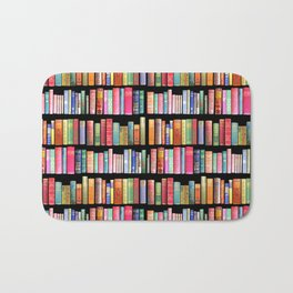 Vintage Book Library for Bibliophile Bath Mat