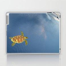 hawksbill swimming in the sky Laptop & iPad Skin
