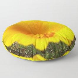 Poppy Flowers Floor Pillow