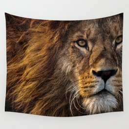 Majestic Lion Wall Tapestry