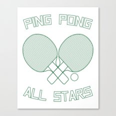 Ping Pong All Stars (Green) Canvas Print