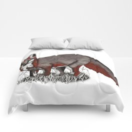 gray fox Comforters