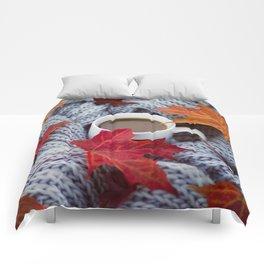 autumn coffee Comforters