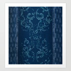 Squirrely Chambray Art Print