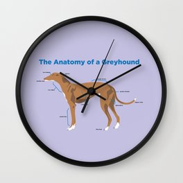 The Anatomy of a Greyhound - Red Wall Clock
