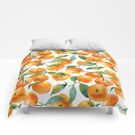 Mandarins With Leaves Comforters