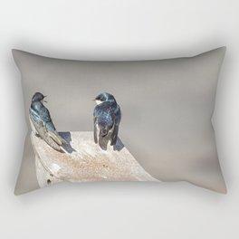 Two Tree Swallows Rectangular Pillow