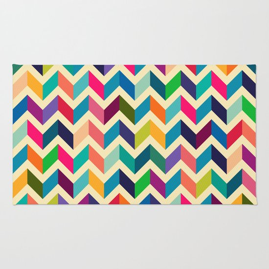 colour wave Rug