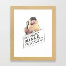 This Mascot Kills Fascists Framed Art Print