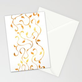 Filigree Vines in Gold Stationery Cards