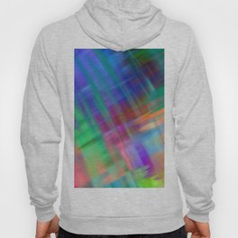 Abstract pink teal lilac green watercolor brushstrokes Hoody