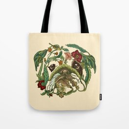 Botanical English Bulldog Tote Bag