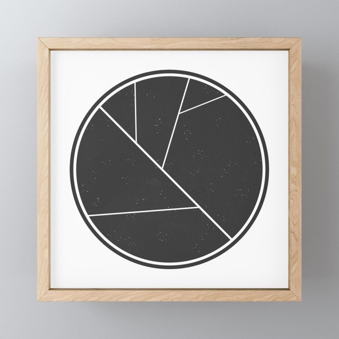 Circle Leaf Framed Mini Art Print