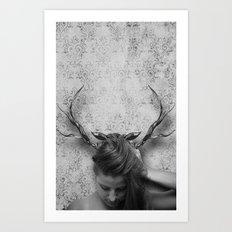 Oh Deer, Me Art Print