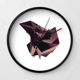 3D purple flying object Wall Clock