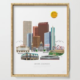 Denver Skyline Serving Tray