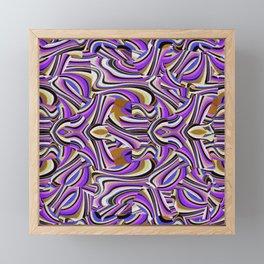 Retro Renewal - Purple Waves Framed Mini Art Print