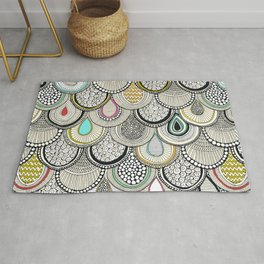 dragon scales Rug