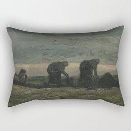 Two Women on the Peat Moor Rectangular Pillow