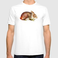 Bunny Mens Fitted Tee White SMALL