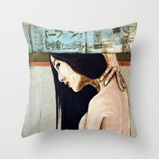 Cradle to the tomb Throw Pillow