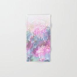 Magical Nature - Glitch Pink & Blue Hand & Bath Towel