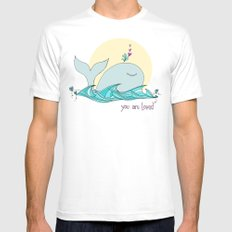 You Are Loved From The Deep Blue Sea Mens Fitted Tee MEDIUM White