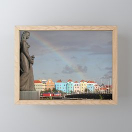 Rainbow over Willemstad Curaçao Framed Mini Art Print