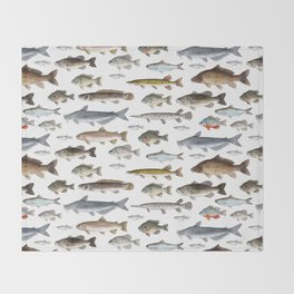 A Few Freshwater Fish Throw Blanket