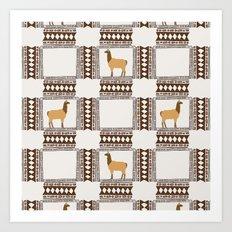 Lamas of Machu Picchu Art Print