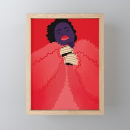 Fat and Fabulous Framed Mini Art Print