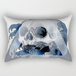 Fingerwave skull Rectangular Pillow