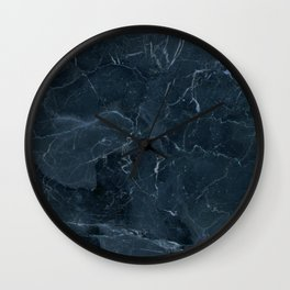 Dark blue marble texture Wall Clock