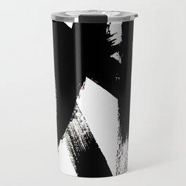 Brushstroke 2 - simple black and white Travel Mug