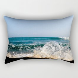 Wave Bubble Splash Rectangular Pillow