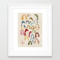 arab Framed Art Prints featuring Arab Divas by QatatoPRINTS