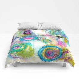 Driven To Distraction, Abstract Landscape Art Comforters
