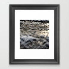Snowy Hearts Framed Art Print