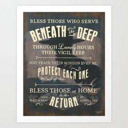 Submariner's Hymn (submarine version) Art Print