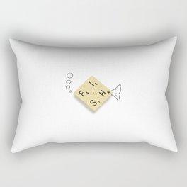 Fish Scrabble Rectangular Pillow