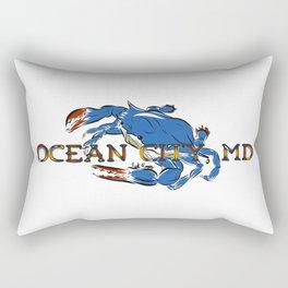 Ocean City Blue Crab Rectangular Pillow