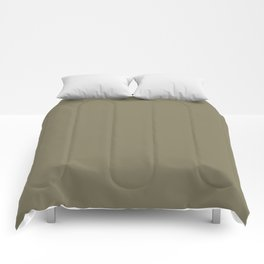 Cheap Solid Dark Army Brown Color Comforters