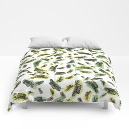 Coloured Falling Feathers Comforters